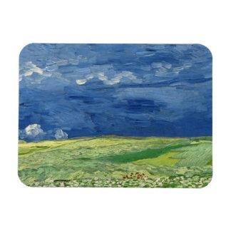 Vincent van Gogh - Wheatfield under Thunderclouds Rectangular Photo Magnet