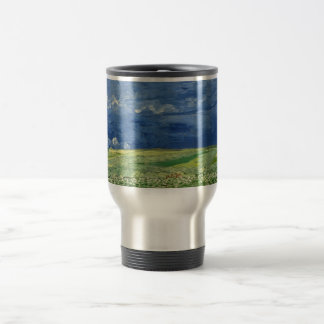 Vincent van Gogh - Wheatfield under thunderclouds Travel Mug