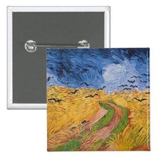 Vincent van Gogh | Wheatfield with Crows, 1890 15 Cm Square Badge