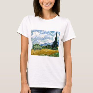 Vincent van Gogh Wheatfield with Cypresses T-Shirt