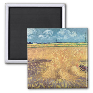 Vincent van Gogh | Wheatfield with Sheaves, 1888 Magnet