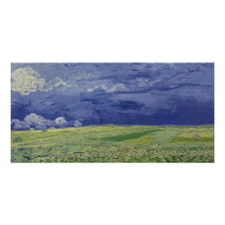 Vincent van Gogh | Wheatfields under Thundercloud Poster