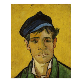 Vincent van Gogh | Young Man with a Hat, 1888 Poster