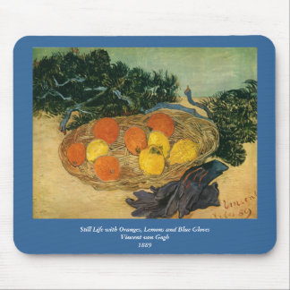 Vincent van Gogh's Basket of Fruit and Gloves 1889 Mouse Pad