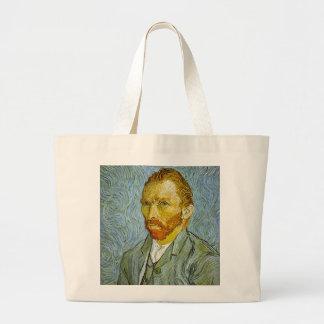 Vincent Van Gogh's 'Self Portrait' Tote Bag Jumbo Tote Bag