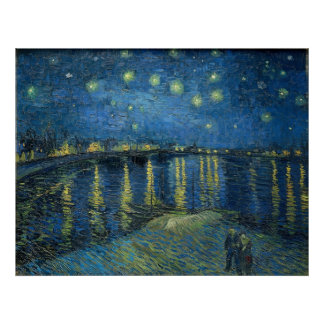 Vincent van Gogh's star night over the Rhone Poster
