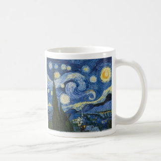 Vincent Van Gogh's Starry Night Basic White Mug