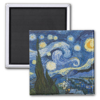 Vincent Van Gogh's Starry Night Fridge Magnet