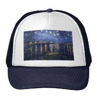 Vincent van Gogh's Starry Night over the Rhone Hats