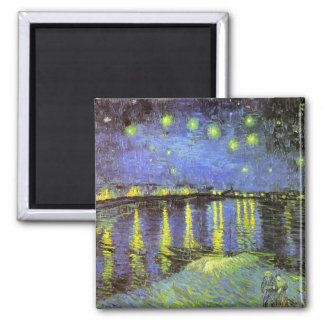 Vincent van Gogh's Starry Night Over the Rhone Magnet