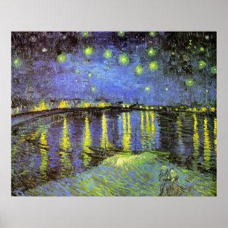 Vincent van Gogh's Starry Night Over the Rhone Print