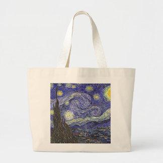 Vincent Van Gogh's 'Starry Night' Tote Bag Jumbo Tote Bag
