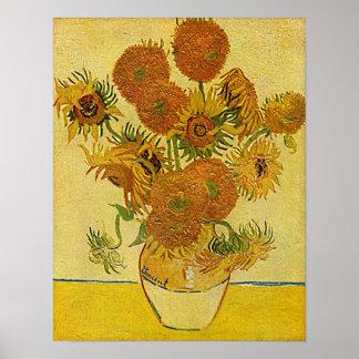 Vincent Van Gogh's 'Sunflowers' Poster