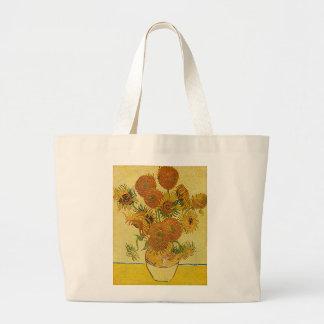 Vincent Van Gogh's 'Sunflowers' Tote Bag Jumbo Tote Bag