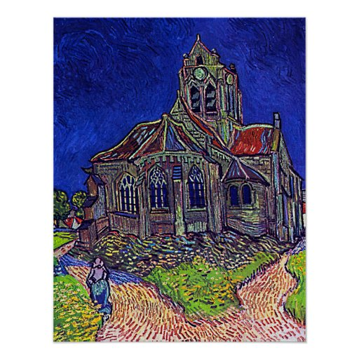 Vincent Van Gogh's 'The Church of Auvers' Posters