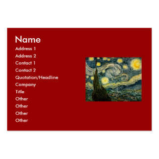 Vincent van Gogh's The Starry Night (1889) Pack Of Chubby Business Cards