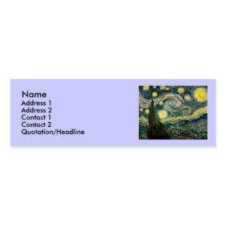 Vincent van Gogh's The Starry Night (1889) Double-Sided Mini Business Cards (Pack Of 20)