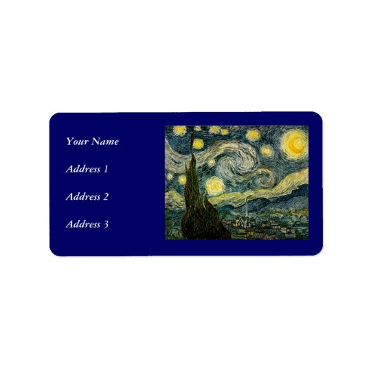 Vincent van Gogh's The Starry Night (1889) Label