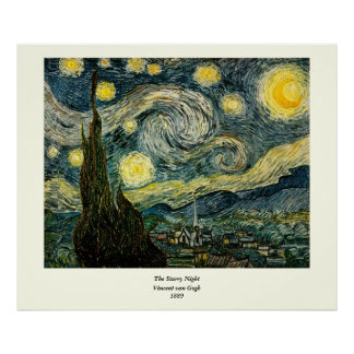 Vincent van Gogh's The Starry Night (1889) Poster