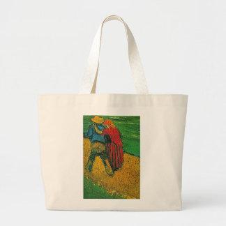 Vincent Van Gogh's 'Two Lovers' Tote Bag Jumbo Tote Bag