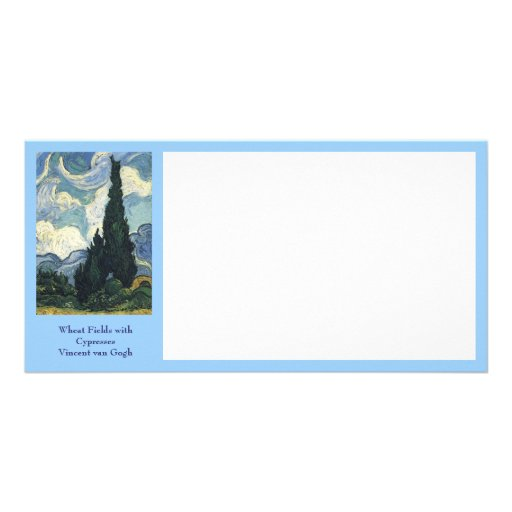 Vincent van Gogh's Wheat Fields With Cypresses Photo Card Template