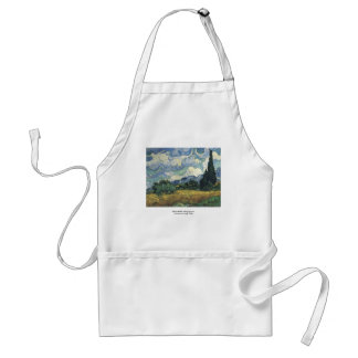 Vincent van Gogh's Wheat Fields With Cypresses Standard Apron