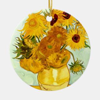 Vincent Van Gogh's Yellow Sunflower Painting 1888 Ceramic Ornament