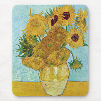 Vincent Willem van Gogh and sunflower Mouse Pad