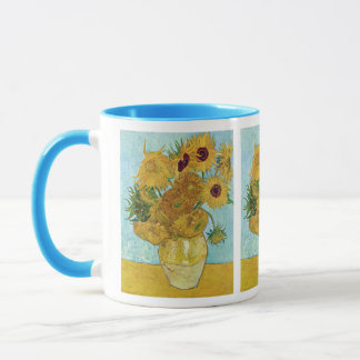 Vincent Willem van Gogh and Sunflower Mug