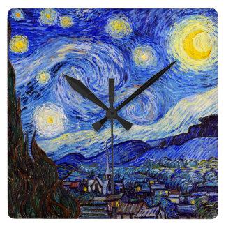 "Vincent Willem van Gogh, ""Starry Night"" Wallclock"