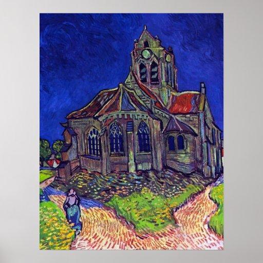 Vincent Willem van Gogh - The Church of Auvers Print