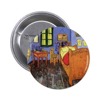 Vincent's Bedroom in Arles by Vincent van Gogh 6 Cm Round Badge