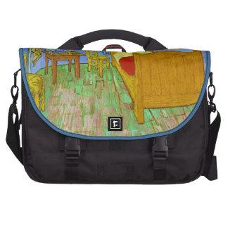 Vincent's Bedroom in Arles by Vincent Van Gogh Laptop Messenger Bag