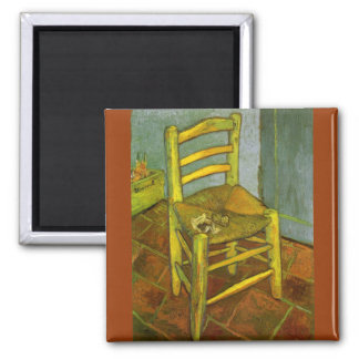 Vincent's Chair with His Pipe by van Gogh Magnet