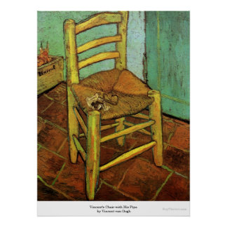 Vincent's Chair with His Pipe by Vincent van Gogh Print