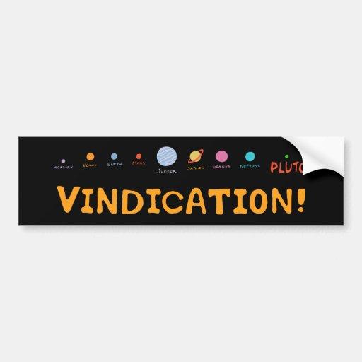 Vindication! Bumper Sticker