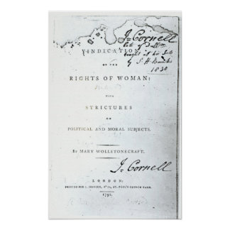 Vindication of the Rights of Woman' Poster