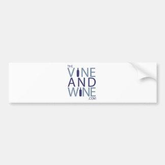 VINE AND WINE com Bumper Sticker