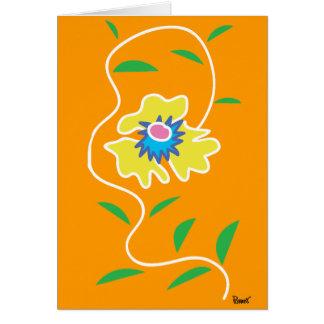 Vine Flowers Blank Card