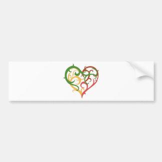 vine heart 2 car bumper sticker