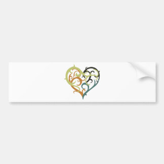 vine heart tribal bumper stickers