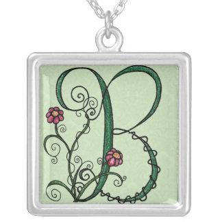 'Vine Letter B' Necklace