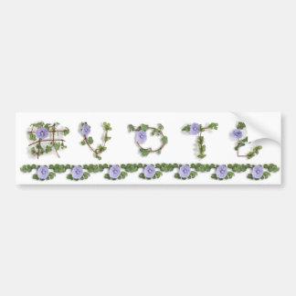 Vine Letter Bumper Sticker