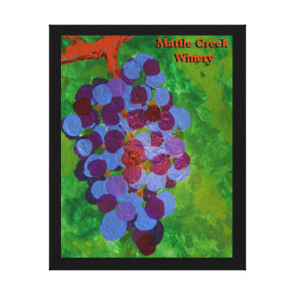 Vine Ripened Grapes Gallery Wrapped Canvas