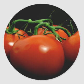 Vine Tomatos Round Sticker