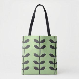 Vine Tote Bag in Pale Green