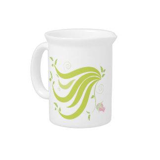 Vine with Flower Beverage Pitcher