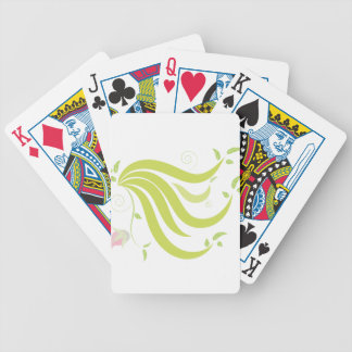 Vine with Flower Bicycle Playing Cards