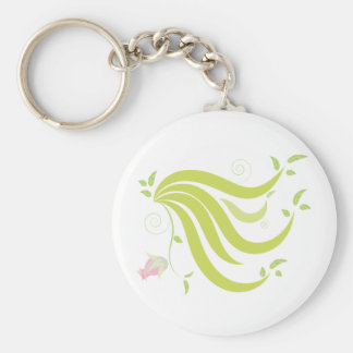Vine with Flower Key Ring