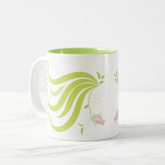 Vine with Flower Two-Tone Coffee Mug